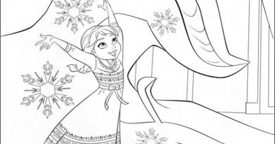 frozen coloring number pages - photo#19