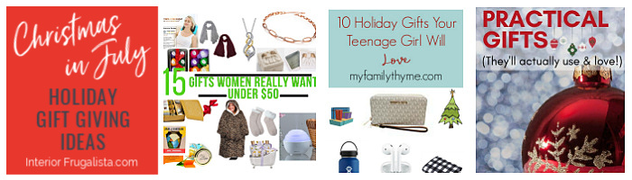 Christmas In July Holiday Gift Giving Ideas