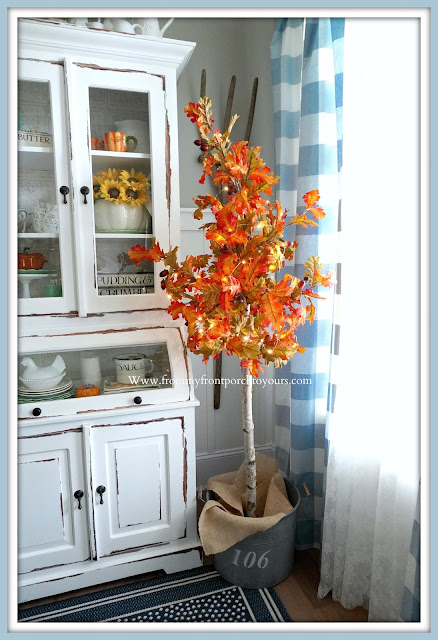 DIY Fall Tree- Twinkle Lights-FromMy Front Porch To Yours