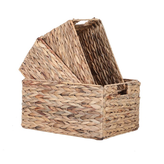 AMAZON -  30% off 3-Pack Foldable Handwoven  Storage Basket with Handles
