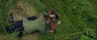 Douglas Russell and Mia Goth in The Survivalist (1)