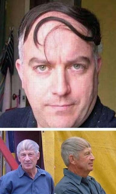 Lustige Männerfrisuren Haare rübergekämmt