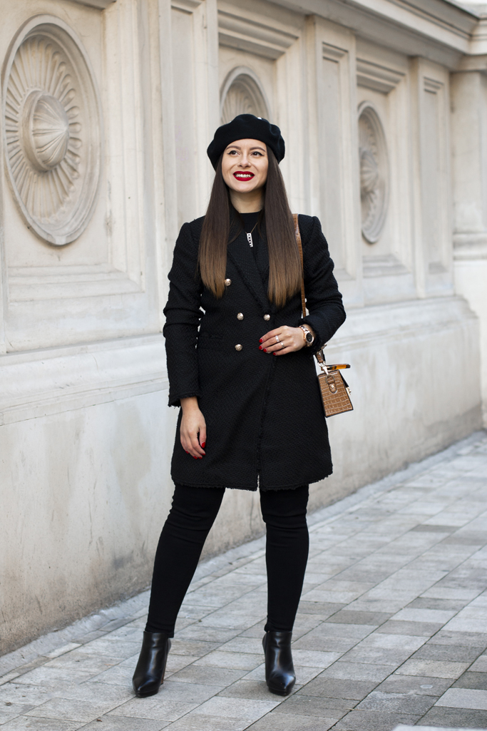 adina nanes all black winter outfit