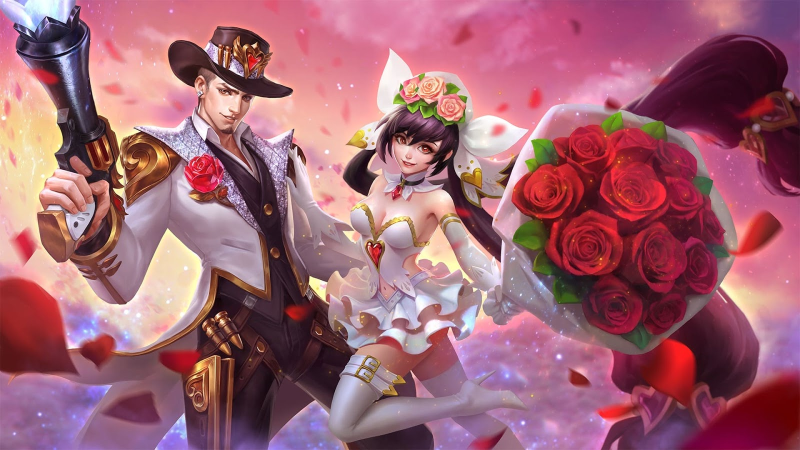 Wallpaper Clint Guns and Roses and Layla Cannon and Roses Skin Mobile Legends HD for PC