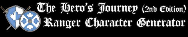 The Hero's Journey 2e Ranger Character Generator