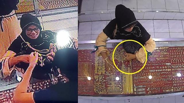Emak-emak di Makassar Curi 50 Gram Emas 23 Karat, Perhatikan Gerakan Tangannya Bikin Geram