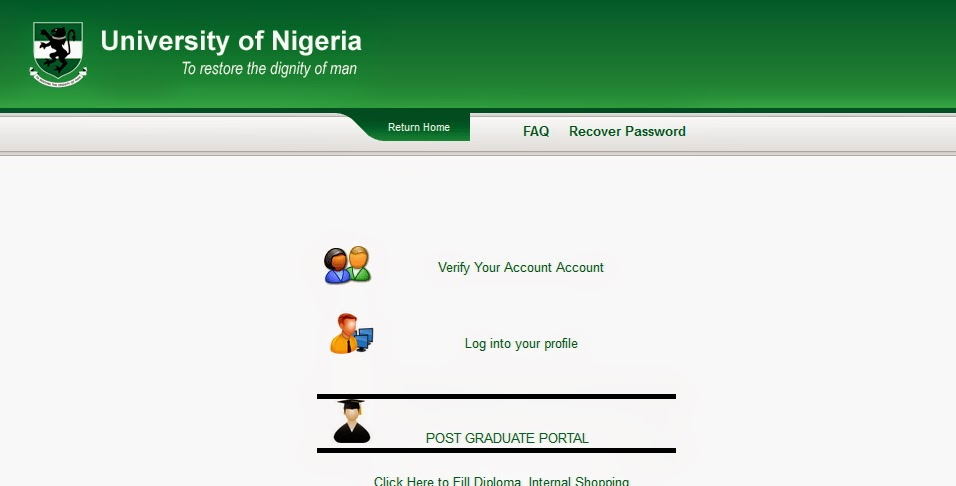 Chimex Vinlex Technologies UNN PG Portal How To Generate Payment