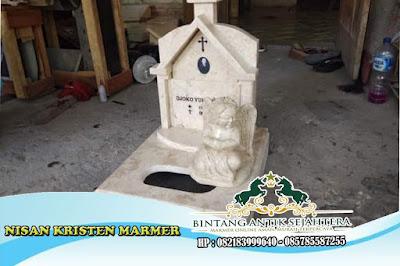 Nisan Katolik | Nisan Kabung | Patung Batu Nisan