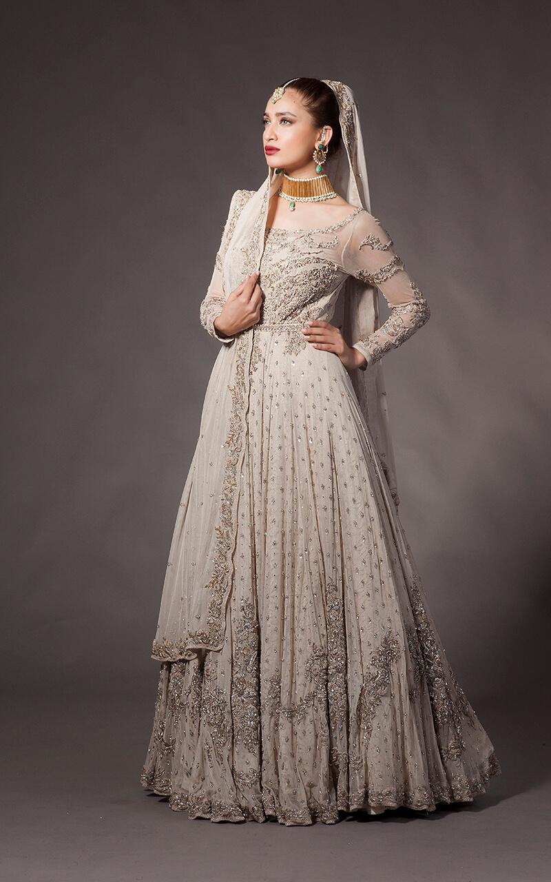 Fahad Hussayn White Bridal Gown