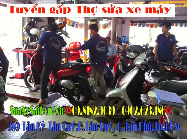 Tuyển gấp Thợ sửa xe máy làm việc tại Tân Phú