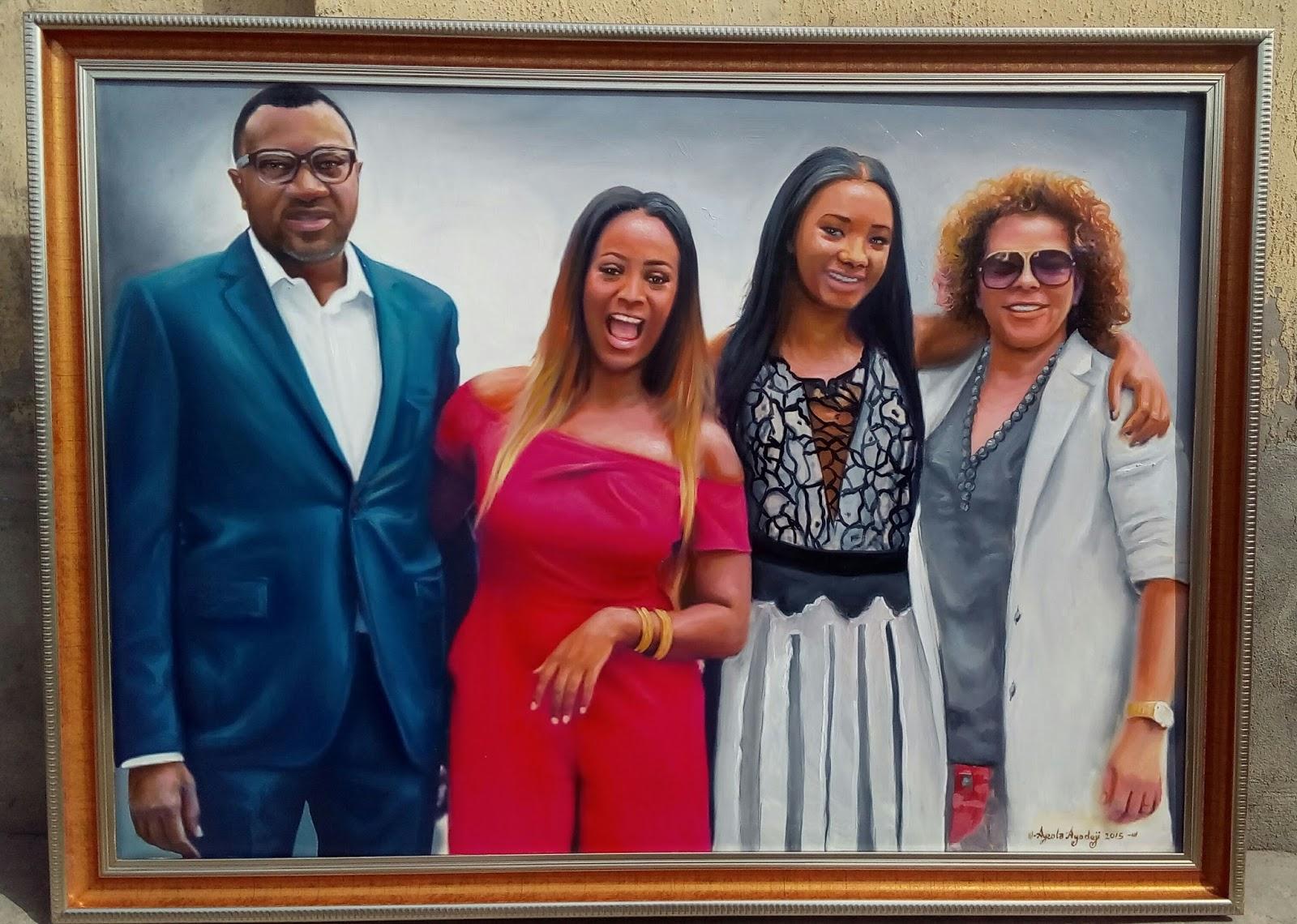 See this amaison hyper realistic portrait painting by nigerian visual artist a graduate of yabatech ayeola ayodeji abiodun awizzy
