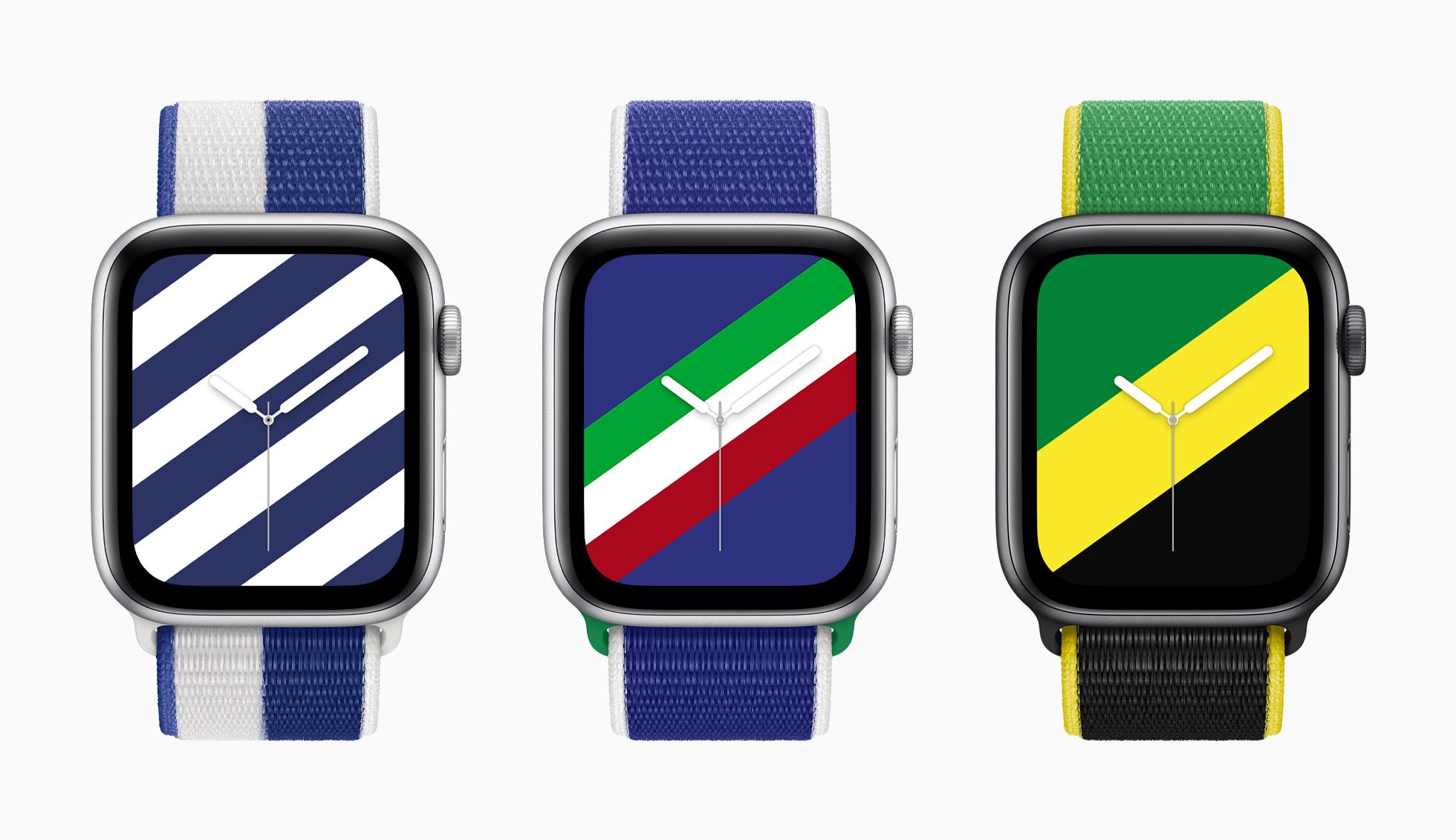 مجموعة جديدة من أحزمة ساعات Apple الدولية للشخصية الرياضية