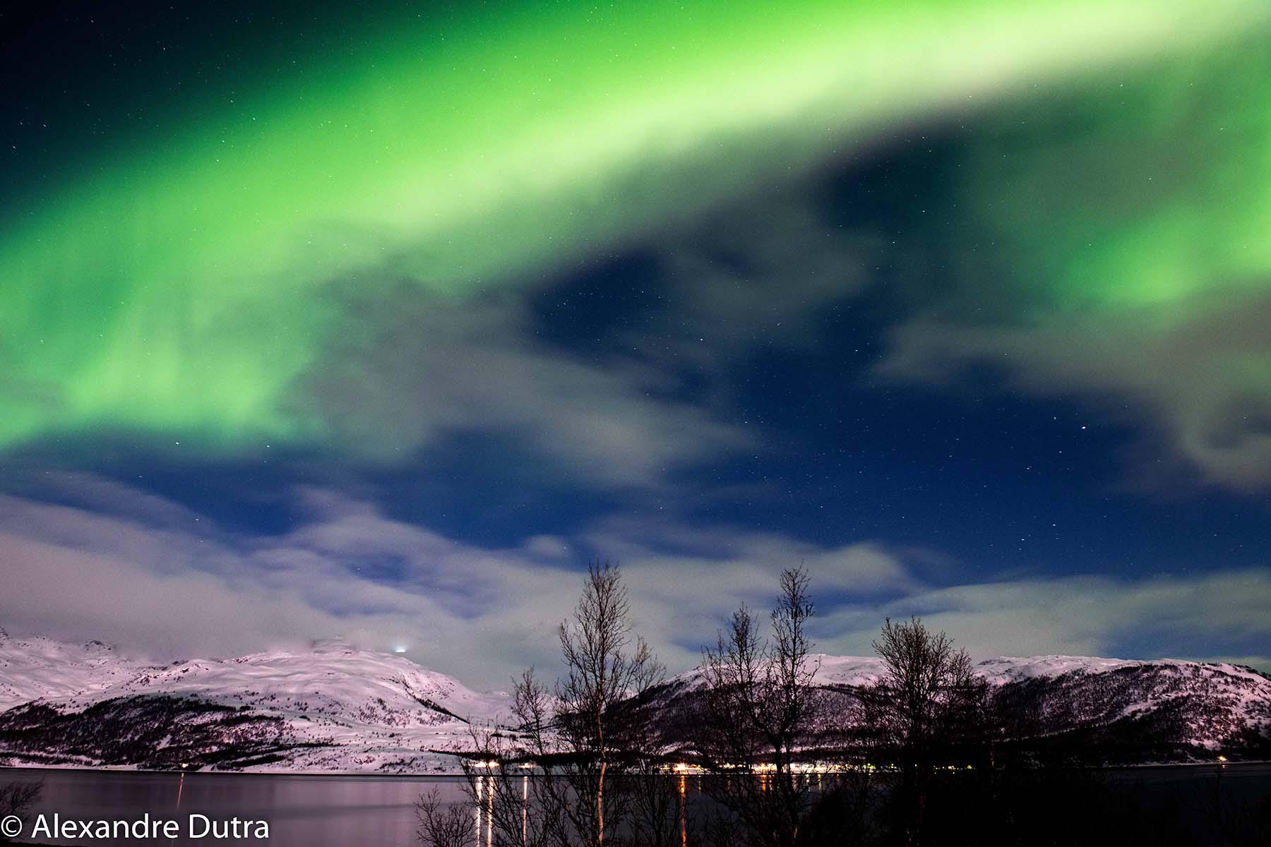 Aurora Boreal em Skibotn, Noruega.