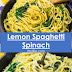 Lemon Spaghetti Spinach Recipe