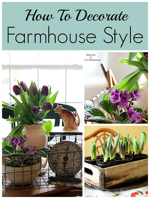 Farmhouse spring centerpieces