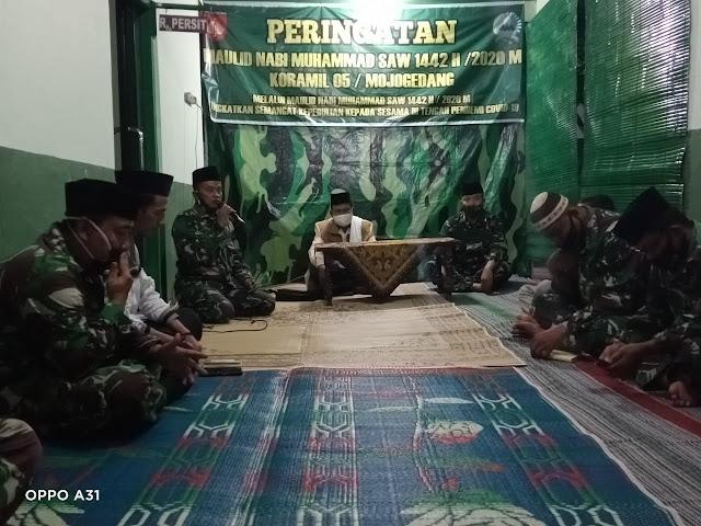 Koramil Mojogedang Peringati Maulid Nabi Muhammad SAW 1442 H/2020 M