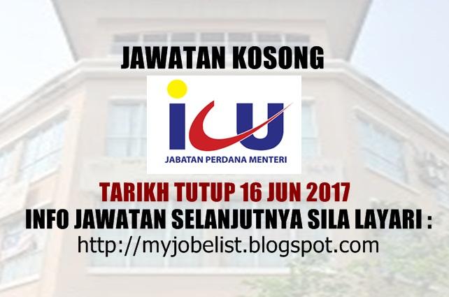 Jawatan Kosong di Jabatan Perdana Menteri (ICU JPM) Jun 2017