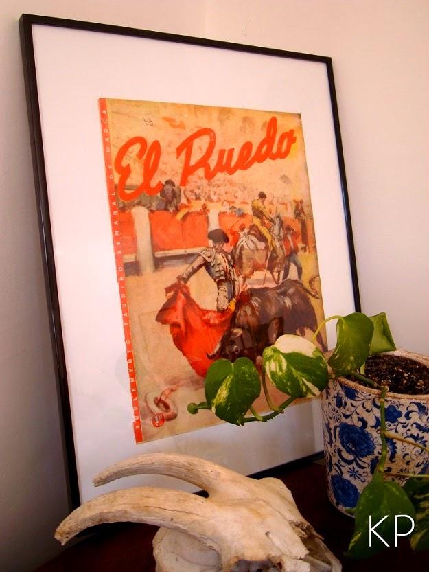 Comprar posters vintage y láminas antiguas enmarcadas para decorar. Revista taurina MARCA  el ruedo.