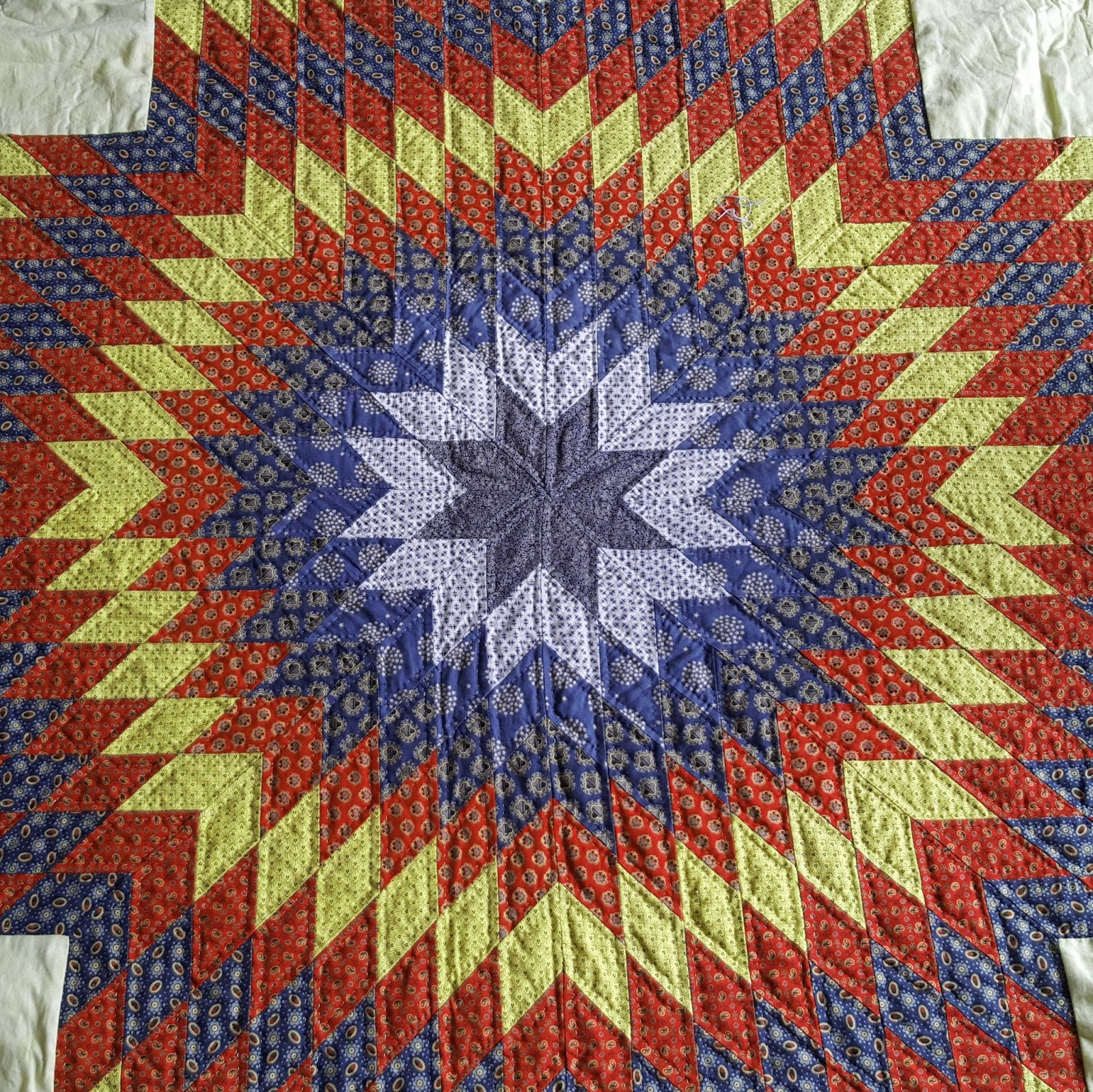 Quilting Pattern For Lone Star : third floor quilts: Lone Star vintage quilt