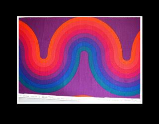 Verner Panton multicolor 2 mittlere Kurven 63 x 42 cm, MIRA-X + 2 Signaturen