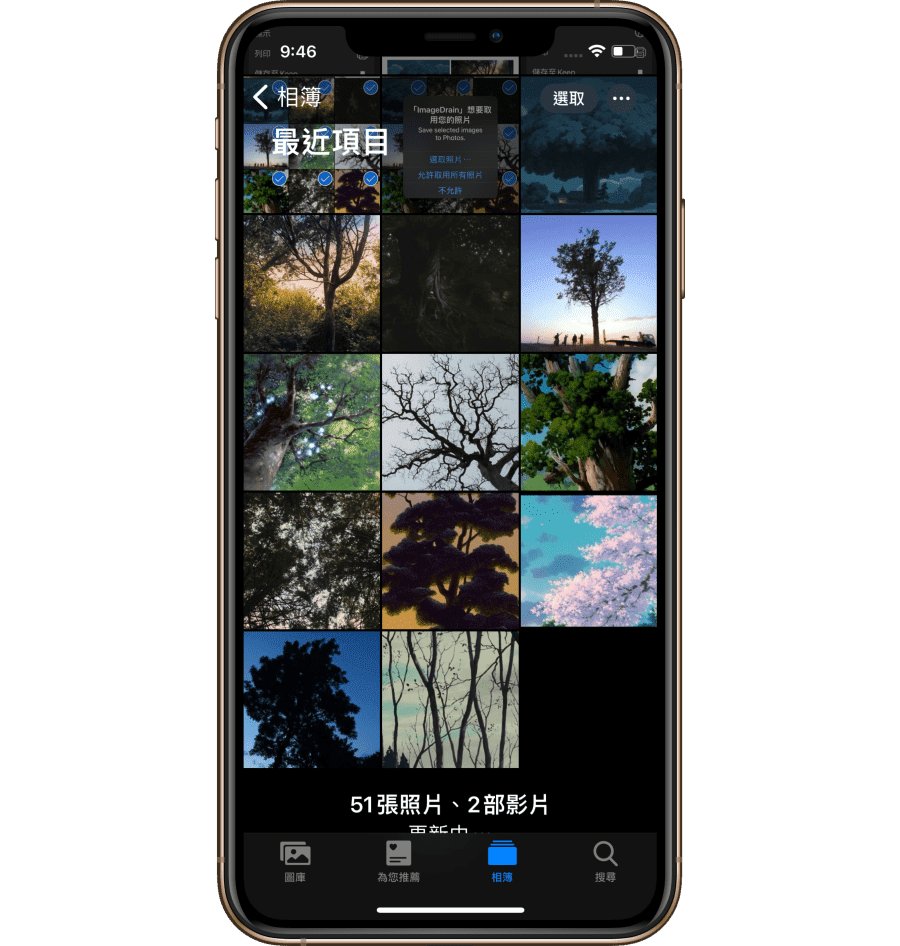 ImageDrain App 能讓 iPhone 批量下載 Safari 網頁圖片
