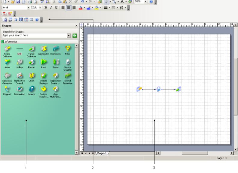 PowerCenter Designer , Mapping Architect for Visio