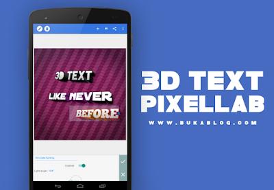 Fitur 3D Text