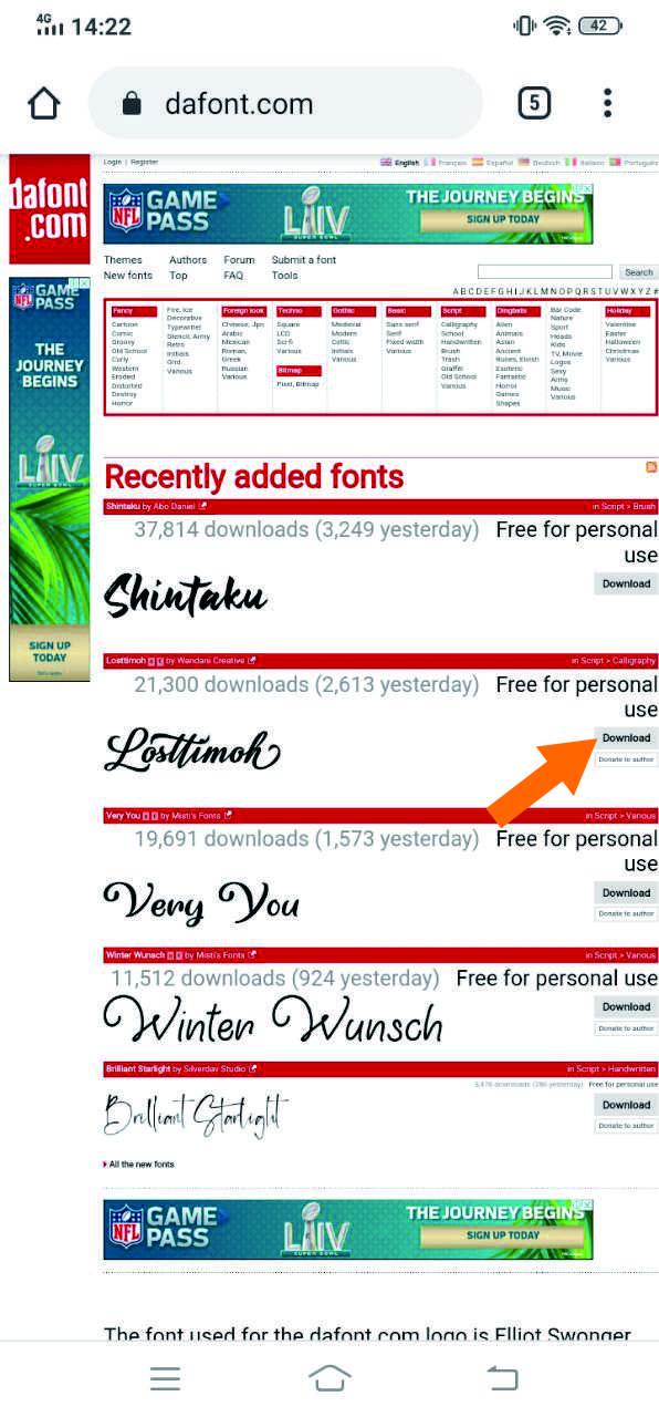 Cara Menambahkan Font di Aplikasi Phonto