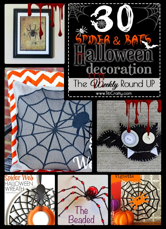 30 Spider & Bat Halloween Decorations