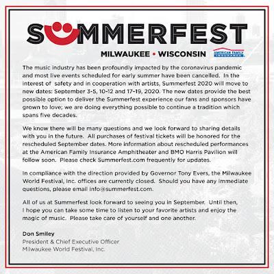 Summerfest 2020 coronavirus COVID-19