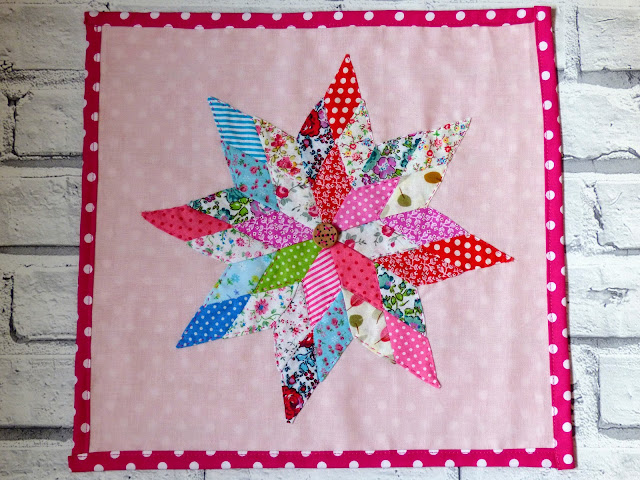 Sewing patchwork star art Mollie Makes issue65 tutorial video