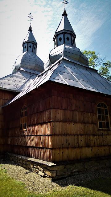 Szlak architektury drewnianej - cerkiew w Olchowcu, Beskid Niski