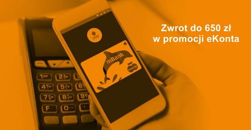 Premia do 650 zł i darmowe eKonto przez okres 24 miesięcy w mBanku