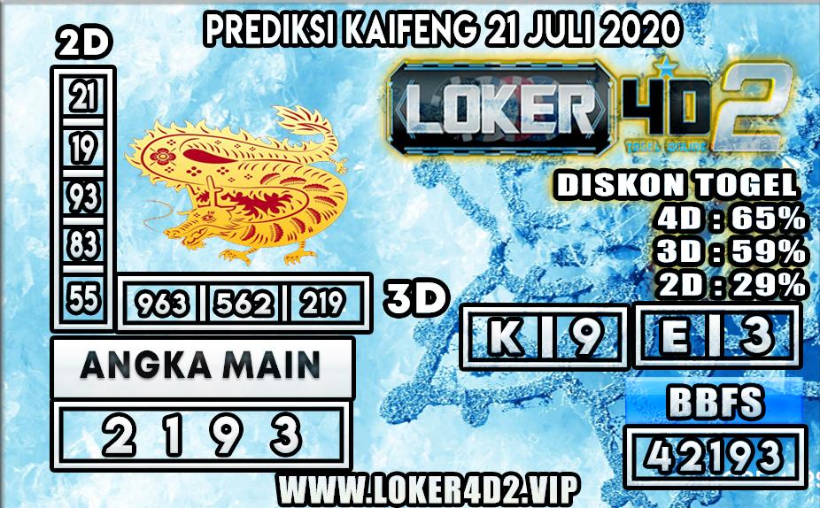 PREDIKSI TOGEL LOKER4D2 KAIFENG 21 JULI 2020