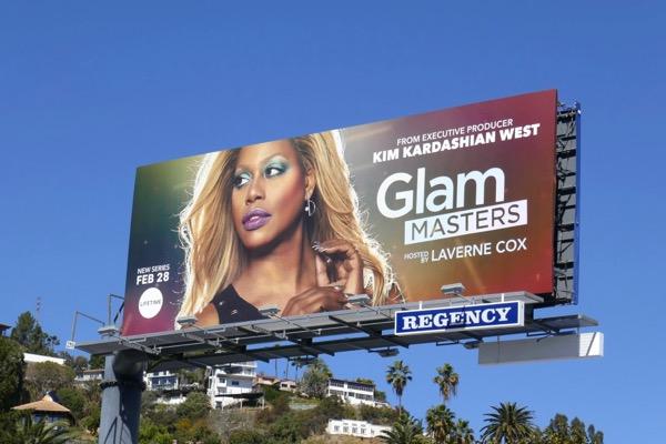 Laverne Cox Glam Masters Lifetime billboard