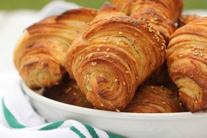 Flaky Pretzel Croissants