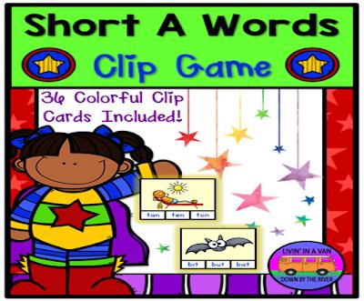SHORT A WORDS, SHORT VOWELS, TPT, READING CENTERS