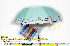 Payung Lipat 3 Model Mangkok Umbrella Motif Paris