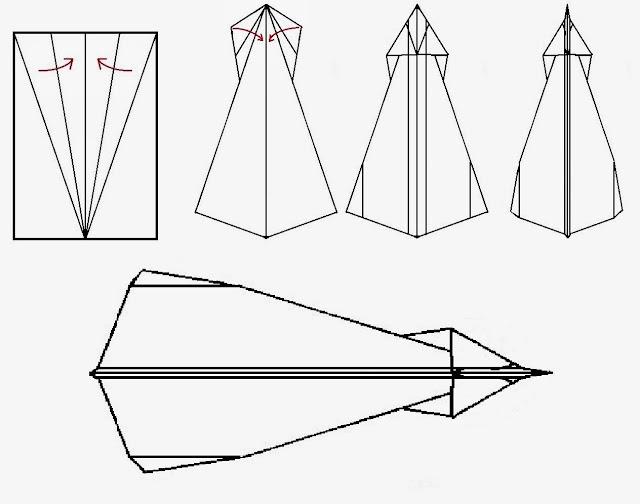 Avión de papel Wing 12