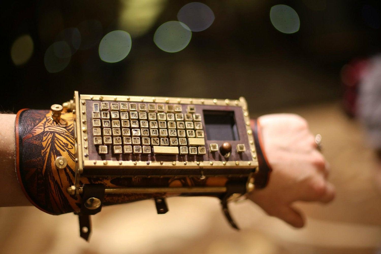 recycled typewriter armguard