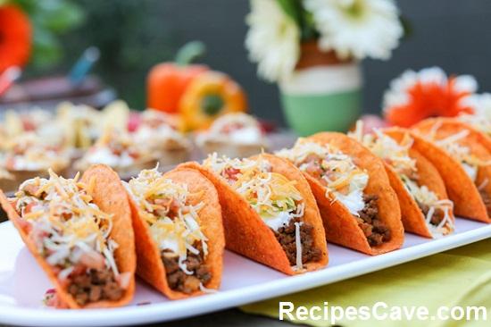 Cheese Shell Mini Tacos Recipes