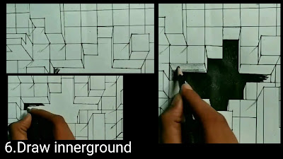 How to draw deep hole on paper Step by step tutorials