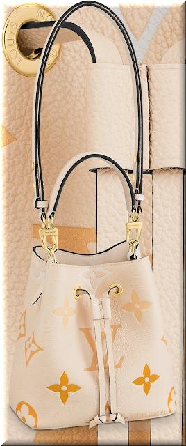 Louis Vuitton NéoNoé BB bucket bag in cream-saffron with Monogram Giant motif #bags #louisvuitton #brilliantluxury