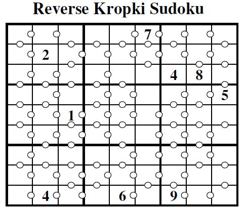 Reverse Kropki Sudoku  (Guest Authors Sudoku #7)