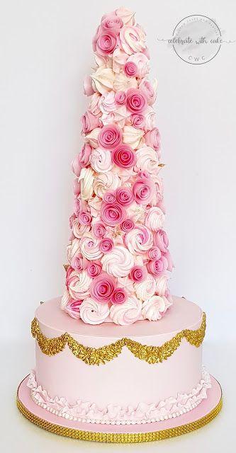 en forma de flores y color rosa