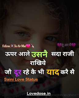 Saini Status Shayari Quotes