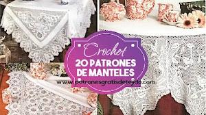 20 patrones de manteles para tejer a crochet