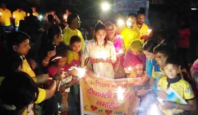 Mission Awakening discourages the needy children with Diwali