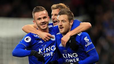 Video Cuplikan Gol: Leicester City 2-0 Watford (Premier League)