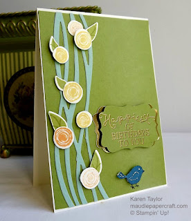 Stampin' Up! Swirly Bird and Swirly Scribbles thinlits card